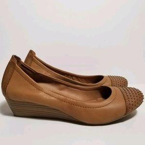 Lucky Brand Felony Studded Heel Wedges